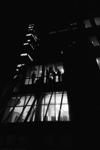 City Men at Window