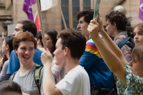 Young  men at Sydney Climate Demo.