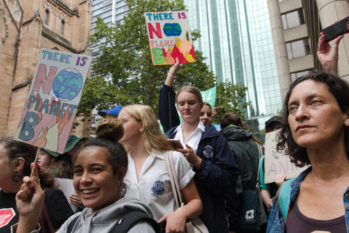 Young women at Sydney Climate Demo.